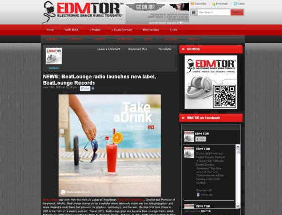 BEATLOUNGE featured on EDM TOR